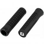 Грипсы ODI Bjorn, V2.1 Lock On, Black/White w/Black Clamp (черные с черными замками)