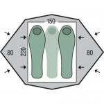 Палатка 2-3-местная с юбкой Pinguin Gemini 150 Extreme Snow (Green)